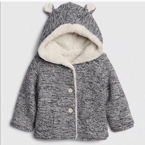 Gap baby boy Sherpa lined hoodie sweater